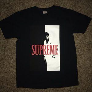 Supreme X Scarface split tee black size L